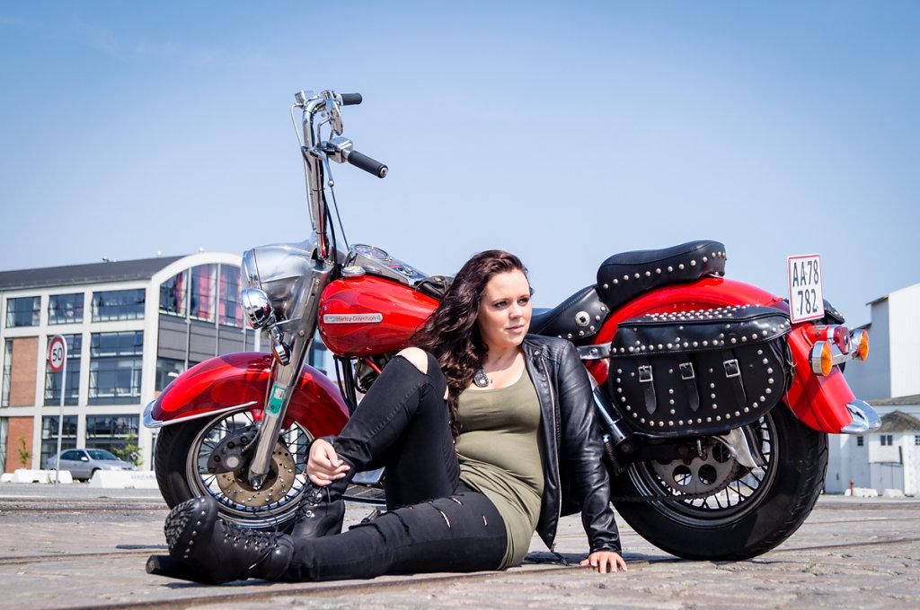 Alberte and '73 Harley